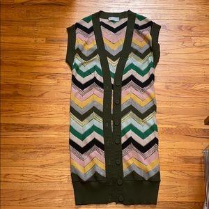 Vtg MISSONI duster sweater vest ⭐️🩰🐨🌲🌿